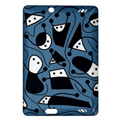 Playful Abstract Art   Blue Amazon Kindle Fire Hd (2013) Hardshell Case by Valentinaart