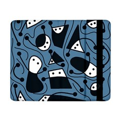 Playful Abstract Art   Blue Samsung Galaxy Tab Pro 8 4  Flip Case by Valentinaart