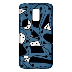 Playful Abstract Art   Blue Galaxy S5 Mini by Valentinaart