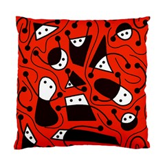 Playful Abstract Art   Red Standard Cushion Case (two Sides) by Valentinaart