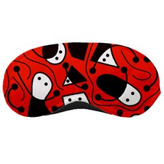 Playful Abstract Art   Red Sleeping Masks by Valentinaart