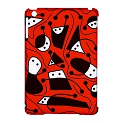 Playful Abstract Art   Red Apple Ipad Mini Hardshell Case (compatible With Smart Cover) by Valentinaart