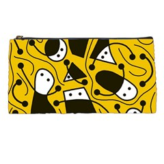 Playful Abstract Art   Yellow Pencil Cases by Valentinaart