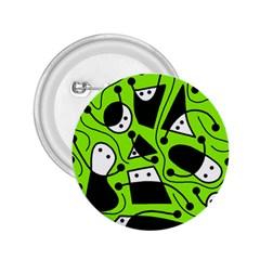 Playful Abstract Art   Green 2 25  Buttons by Valentinaart