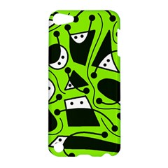 Playful Abstract Art   Green Apple Ipod Touch 5 Hardshell Case by Valentinaart