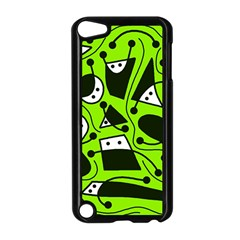 Playful Abstract Art   Green Apple Ipod Touch 5 Case (black) by Valentinaart