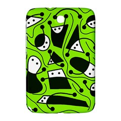 Playful Abstract Art   Green Samsung Galaxy Note 8 0 N5100 Hardshell Case  by Valentinaart