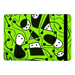 Playful abstract art - green Samsung Galaxy Tab Pro 10.1  Flip Case by Valentinaart