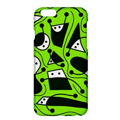 Playful Abstract Art   Green Apple Iphone 6 Plus/6s Plus Hardshell Case by Valentinaart
