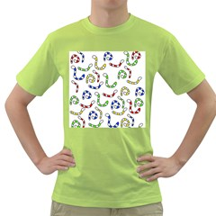 Colorful Worms  Green T Shirt by Valentinaart