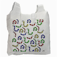 Colorful Worms  Recycle Bag (two Side)  by Valentinaart