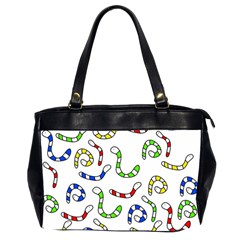 Colorful Worms  Office Handbags (2 Sides)  by Valentinaart