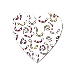 Cute Worms Heart Magnet by Valentinaart