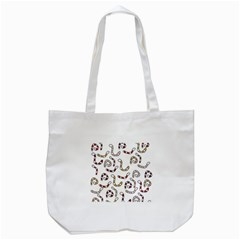 Cute Worms Tote Bag (white) by Valentinaart