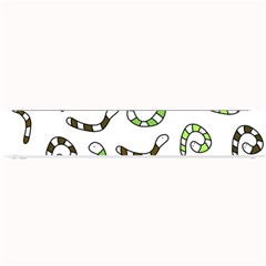 Green Worms Small Bar Mats by Valentinaart