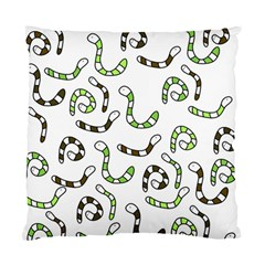 Green Worms Standard Cushion Case (one Side) by Valentinaart