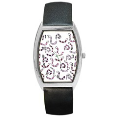 Purple Worms Barrel Style Metal Watch by Valentinaart