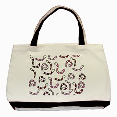 Purple Worms Basic Tote Bag by Valentinaart