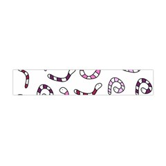 Purple Worms Flano Scarf (mini) by Valentinaart