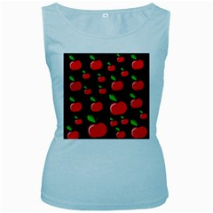 Red Apples  Women s Baby Blue Tank Top by Valentinaart