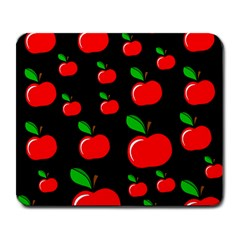 Red Apples  Large Mousepads by Valentinaart