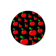 Red apples  Rubber Coaster (Round)  by Valentinaart