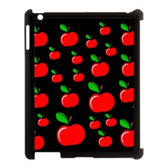 Red Apples  Apple Ipad 3/4 Case (black) by Valentinaart
