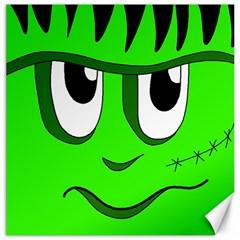 Halloween Frankenstein   Green Canvas 20  X 20   by Valentinaart