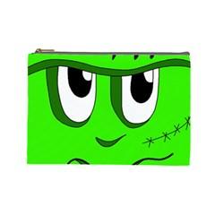 Halloween Frankenstein   Green Cosmetic Bag (large)  by Valentinaart