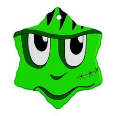Halloween Frankenstein   Green Ornament (snowflake)