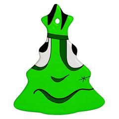 Halloween Frankenstein   Green Ornament (christmas Tree) by Valentinaart