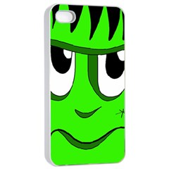 Halloween Frankenstein   Green Apple Iphone 4/4s Seamless Case (white) by Valentinaart