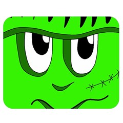 Halloween Frankenstein   Green Double Sided Flano Blanket (medium)  by Valentinaart