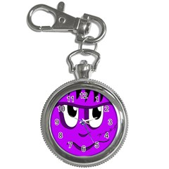 Halloween   Purple Frankenstein Key Chain Watches by Valentinaart