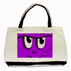 Halloween   Purple Frankenstein Basic Tote Bag by Valentinaart