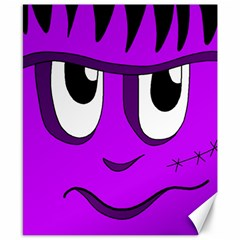 Halloween   Purple Frankenstein Canvas 8  X 10  by Valentinaart