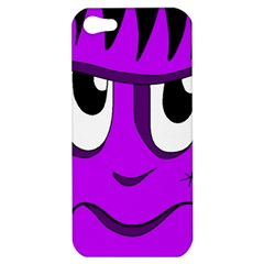 Halloween   Purple Frankenstein Apple Iphone 5 Hardshell Case by Valentinaart