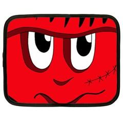 Halloween Frankenstein   Red Netbook Case (xxl)  by Valentinaart