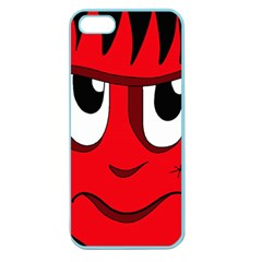 Halloween Frankenstein   Red Apple Seamless Iphone 5 Case (color) by Valentinaart