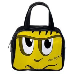 Halloween Frankenstein   Yellow Classic Handbags (one Side) by Valentinaart