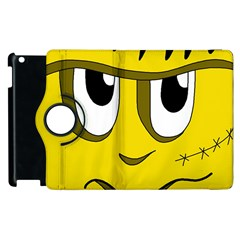 Halloween Frankenstein   Yellow Apple Ipad 3/4 Flip 360 Case by Valentinaart