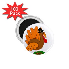 Thanksgiving Turkey   Transparent 1 75  Magnets (100 Pack)  by Valentinaart