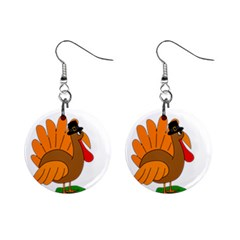 Thanksgiving Turkey   Transparent Mini Button Earrings by Valentinaart