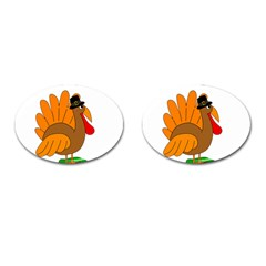 Thanksgiving Turkey   Transparent Cufflinks (oval) by Valentinaart