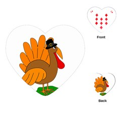 Thanksgiving Turkey   Transparent Playing Cards (heart)  by Valentinaart