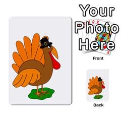 Thanksgiving turkey - transparent Multi-purpose Cards (Rectangle)