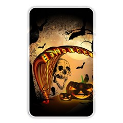 Halloween, Funny Pumpkin With Skull And Spider In The Night Memory Card Reader by FantasyWorld7