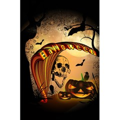 Halloween, Funny Pumpkin With Skull And Spider In The Night 5 5  X 8 5  Notebooks by FantasyWorld7