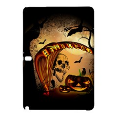 Halloween, Funny Pumpkin With Skull And Spider In The Night Samsung Galaxy Tab Pro 12 2 Hardshell Case by FantasyWorld7