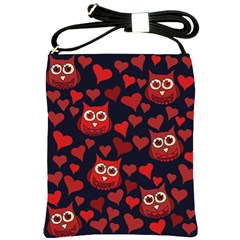 Owl You Need In Love Owls Shoulder Sling Bags by BubbSnugg